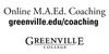 Greenville University Masters in Coaching