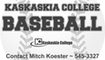 Kaskaskia College Baseball