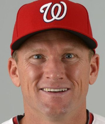 Rick Eckstein in Washington Nationals baseball uniform
