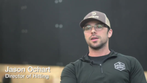 Jason Ochart in Driveline baseball hat and shirt