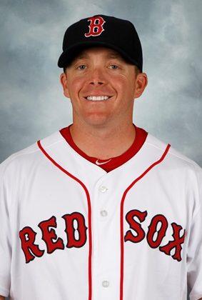 Darren Fenster in Boston Red Sox Uniform