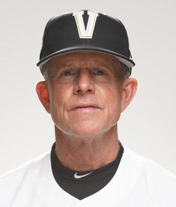 Headshot of baseball Coach Tim Corbin in Vanderbilt University uniform