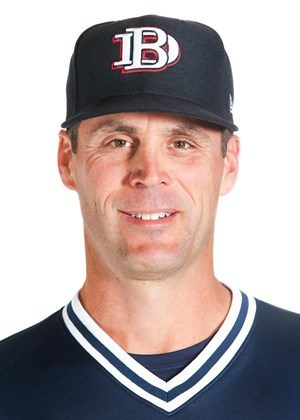 Dan Heefner wearing Dallas Baptist University baseball uniform
